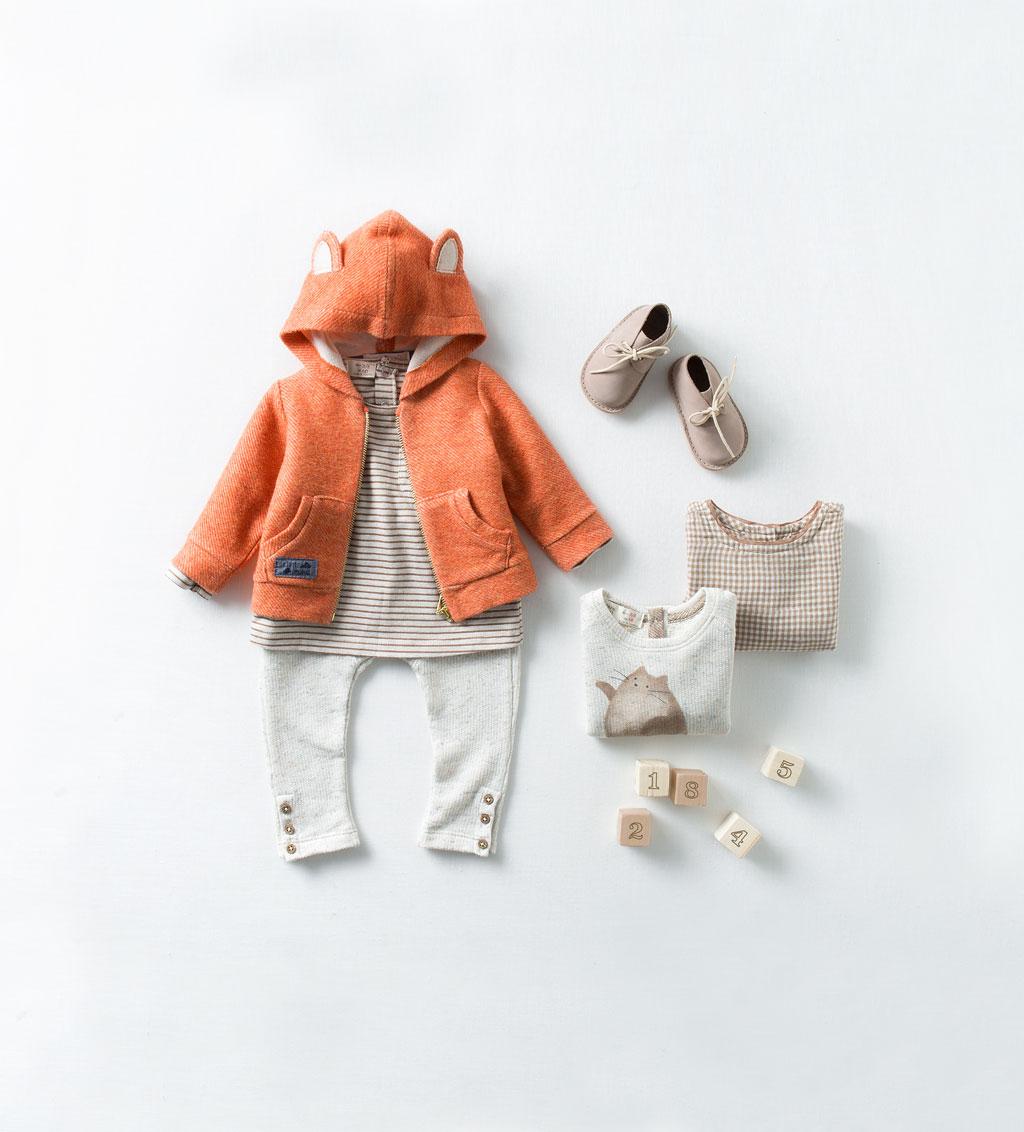 Catálogo de bebé Zara - Chaqueta de zorro