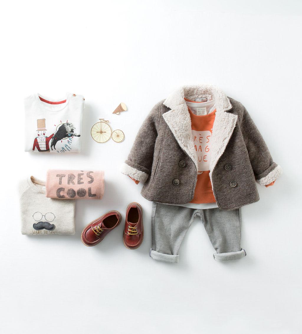 Catálogo niño Zara - Abrigo de pelito