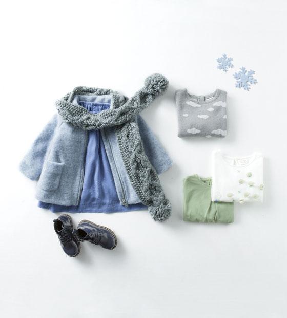 Catálogo niña Zara - Abrigo azul
