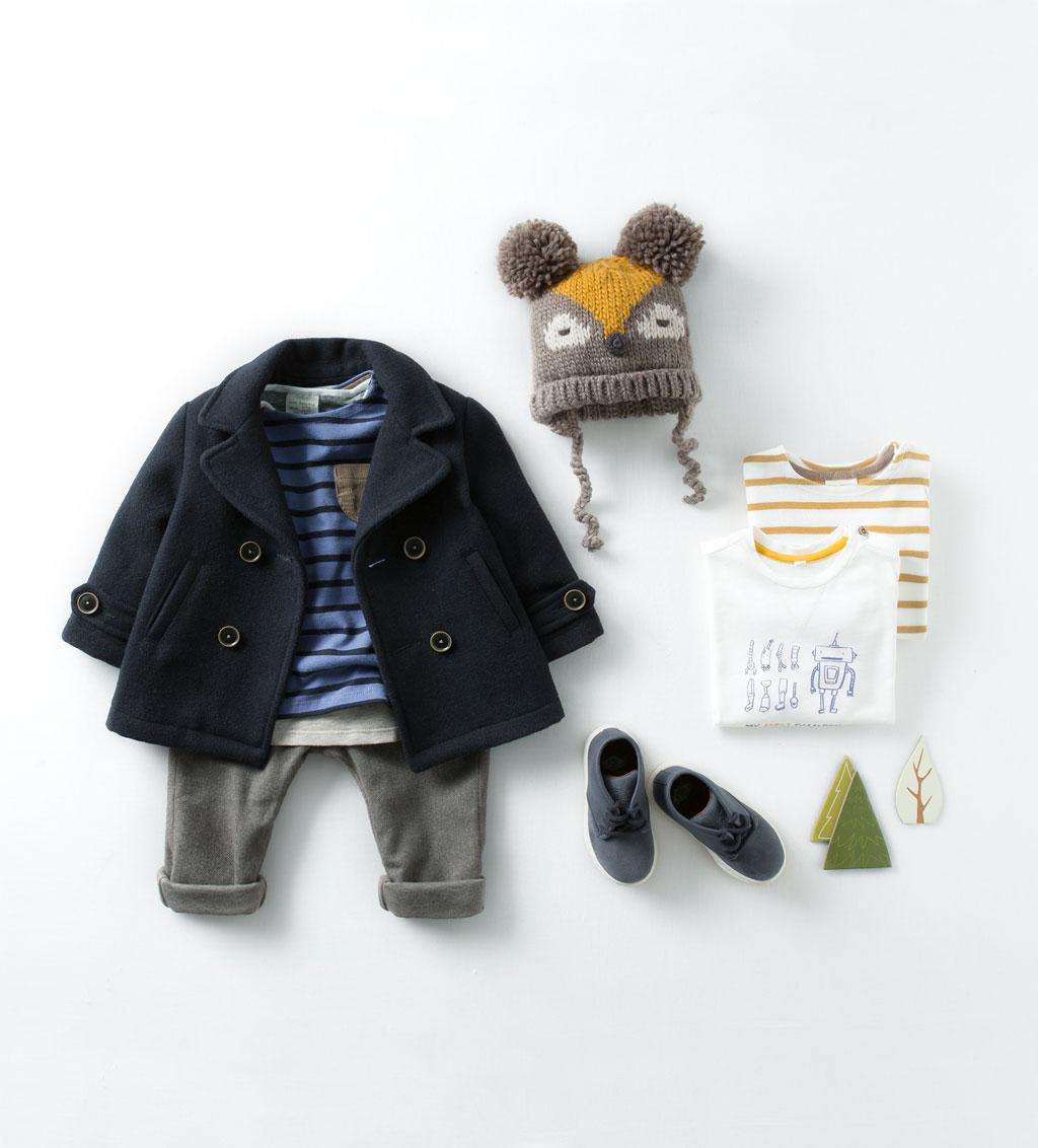Catálogo niño Zara - Abrigo negro