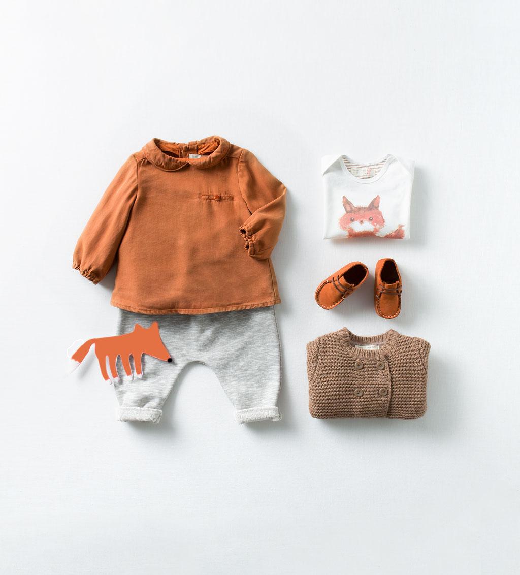 Catálogo de bebé Zara - Camiseta de zorro